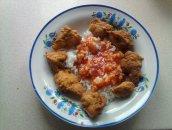 Kurczak w cieście curry