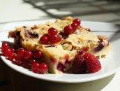 Ciasto z malinami i porzeczkami