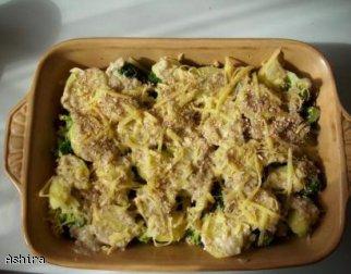 Zapiekanka brokułowo - dyniowa