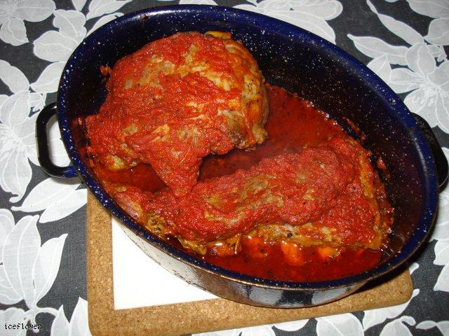 Żeberka w pomidorach