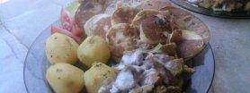 Polędwiczki w sosie czosnkowym