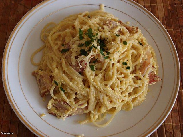 Spaghetti carbonara wg. Sus