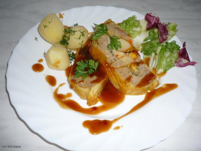Mięso w cieście francuskim