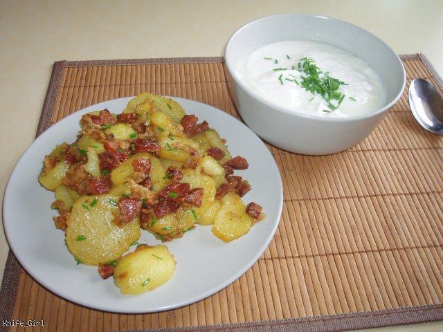Duszone ziemniaki z boczkiem