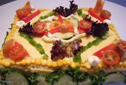 Tort kanapkowy - wersja rybna