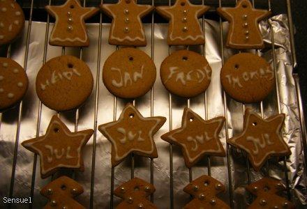 Bombkowe ciasteczka - Honning Kager (pierniczki)