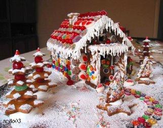 Magiczny Domek Bożonarodzeniowy pod choinkę z piernika