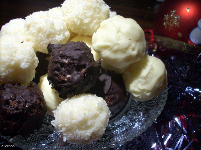 Pralinki kokosowe a'la Bounty