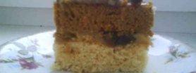 Przekładaniec miodowo-orzechowy