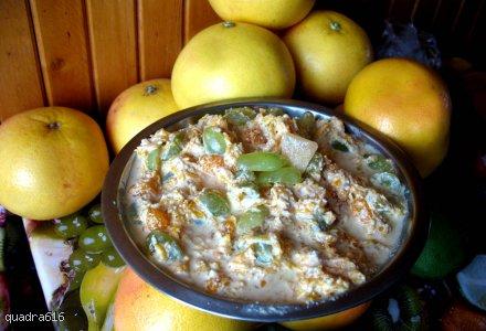 Sałatka dyniowa z winogronem i mandarynką
