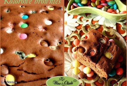 Kolorowe brownies