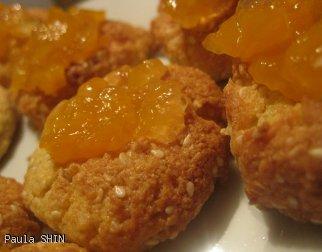 Pyszne ciasteczka z kleiku ryżowego (z kokosem i sezamem)