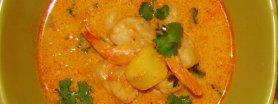 Czerwone curry z krewetkami