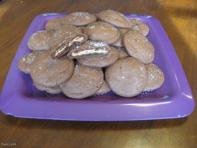 Ciasteczka z nadzieniem orzechowym