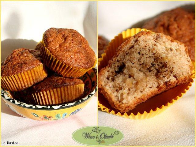 Muffinki z jogurtem, orzechami włoskimi i skórką cytryny