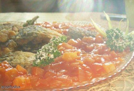 Ryba w sosie z ananasem