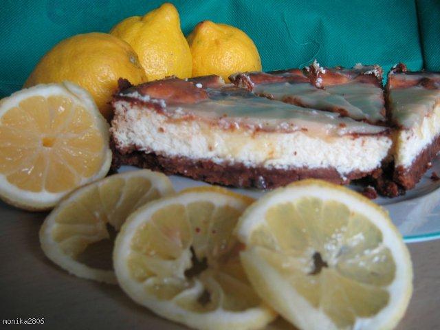 Sernik lemon curd