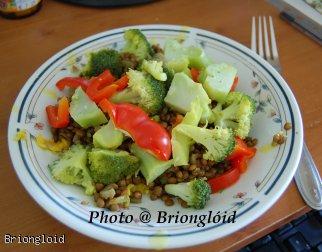 Soczewica z ryżem i warzywami