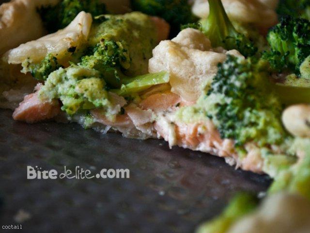 Tarta łososiowo brokułowa