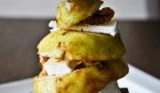 Gruszka z serem pleśniowym i orzechami włoskimi