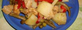 Zapiekanka - wieprzowina z papryką