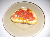 Bruszczetka ( tosty z pomidorami)