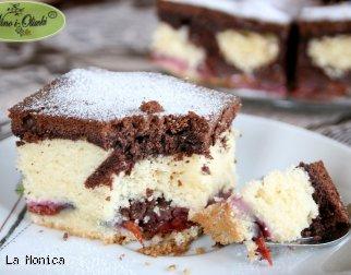 Ciasto ucierane biało-czarne z owocami