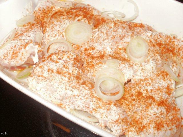 Udka w majonezie z zielonymi ziemniakami