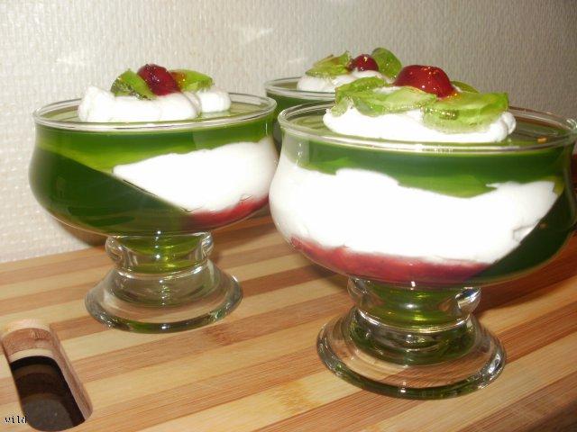 zielony deser