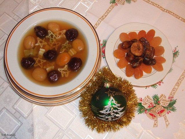 Zupa z suszonych owoców