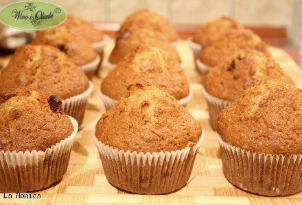 Muffinki bananowe z orzechami i czekoladą