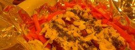 Łosoś w sosie sojowym i warzywach