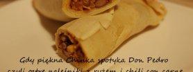 Gdy piękna Chinka spotyka Don Pedro* - czyli ostre naleśniki z ryżem i chili con carne