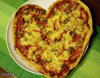 Zakochana pizza z semoliną