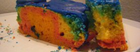 Tęczowe ciasto babkowe