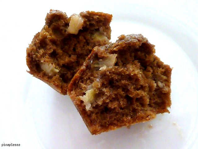 Kawowe muffinki z bananami