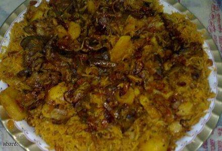 Arabskie danie na odwrót