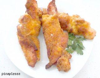 Chrupiące Piersi Kurczaka w Bekonie i Parmezanie