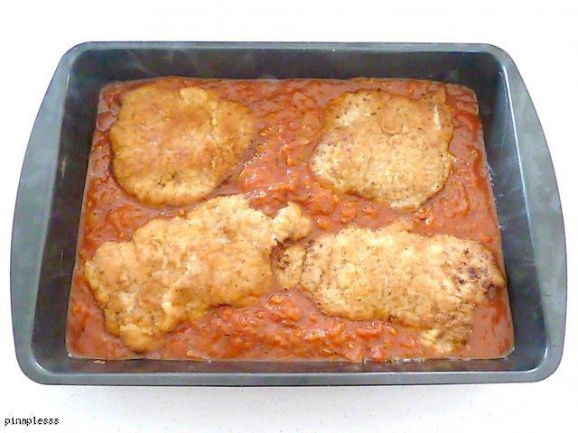 Schabowe w pomidorowym sosie