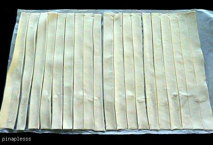 Twisty z ciasta francuskiego