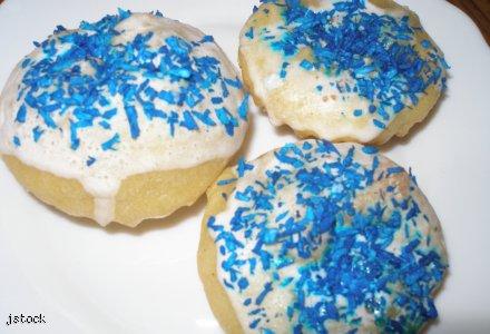 Niebieskie babeczki idealne