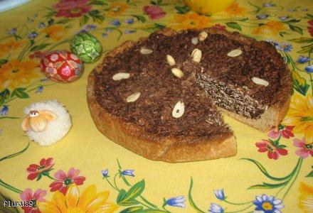 MAZUREK z owsianą masą czekoladową
