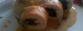 Drobiowe roladki ze szpinakiem