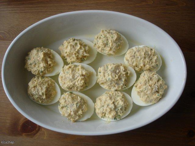 Jajka wielkanocne zapiekane z rzeżuchą
