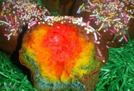 Rainbow Muffins (Tęczowe muffinki)
