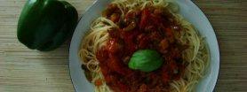 Spaghetti z bakłażanem