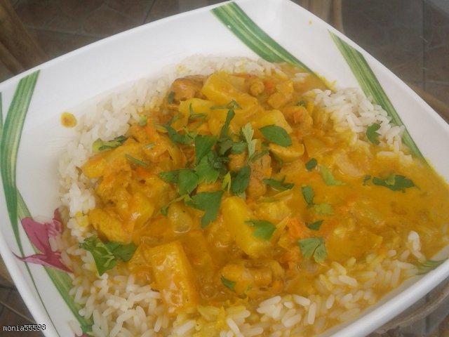 Kurczak Curry na słodko