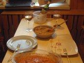 Krewetki po grecku z ryżem i warzywami