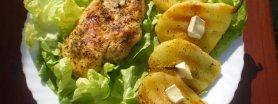 Grillowany kurczak z gruszkami i camembertem