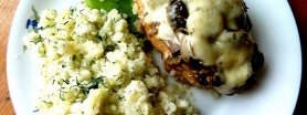 Kurczak pod grzybowo-serową chmurką